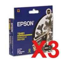 3 x Genuine Epson T0461 Black Ink Cartridge