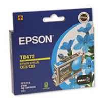 1 x Genuine Epson T0472 Cyan Ink Cartridge