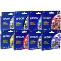 8 Pack Genuine Epson T0540 T0541 T0542 T0543 T0544 T0547 T0548 T0549 Ink Cartridge Set