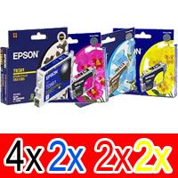 10 Pack Genuine Epson T0561 T0562 T0563 T0564 Ink Cartridge Set (4BK,2C,2M,2Y)