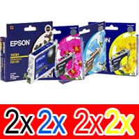 8 Pack Genuine Epson T0561 T0562 T0563 T0564 Ink Cartridge Set (2BK,2C,2M,2Y)