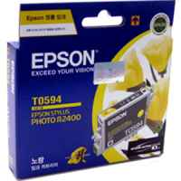 1 x Genuine Epson T0594 Yellow Ink Cartridge