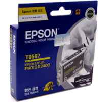 1 x Genuine Epson T0597 Light Black Ink Cartridge