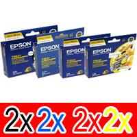 8 Pack Genuine Epson T0621 T0632 T0633 T0634 Ink Cartridge Set (2BK,2C,2M,2Y)