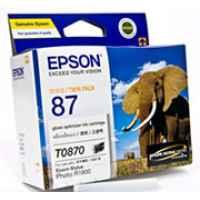 1 x Genuine Epson T0870 Gloss Optimiser Ink Cartridge