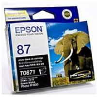 1 x Genuine Epson T0871 Poto Black Ink Cartridge