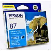 1 x Genuine Epson T0872 Cyan Ink Cartridge