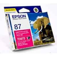 1 x Genuine Epson T0873 Magenta Ink Cartridge