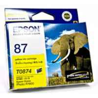 1 x Genuine Epson T0874 Yellow Ink Cartridge