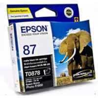 1 x Genuine Epson T0878 Matte Black Ink Cartridge