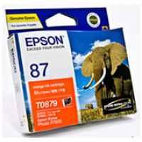1 x Genuine Epson T0879 Orange Ink Cartridge