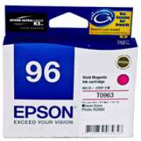 1 x Genuine Epson T0963 Vivid Magenta Ink Cartridge