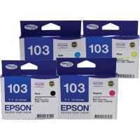 4 Pack Genuine Epson T1031 T1032 T1033 T1034 103 Ink Cartridge Set (1BK,1C,1M,1Y) Extra High Yield