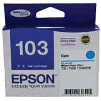 1 x Genuine Epson T1032 103 Cyan Ink Cartridge Extra High Yield