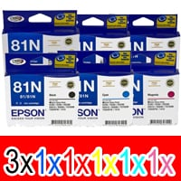 8 Pack Genuine Epson 81N T1111 T1112 T1113 T1114 T1115 T1116 Ink Cartridge Set (3BK,1C,1M,1Y,1LC,1LM) High Yield
