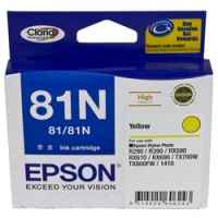 1 x Genuine Epson T0814 T1114 81N Yellow Ink Cartridge High Yield