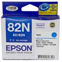 1 x Genuine Epson T1122 82N Cyan Ink Cartridge