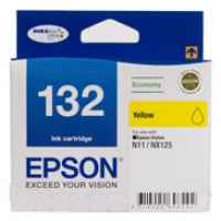 1 x Genuine Epson T1324 132 Yellow Ink Cartridge