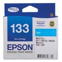 1 x Genuine Epson T1332 133 Cyan Ink Cartridge Standard Yield