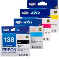 4 Pack Genuine Epson 138 T1381 T1382 T1383 T1384 Ink Cartridge Set (1BK,1C,1M,1Y) High Yield