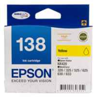 1 x Genuine Epson T1384 138 Yellow Ink Cartridge High Yield