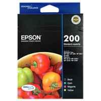 1 x Genuine Epson 200 Ink Cartridge Value Pack Standard Yield