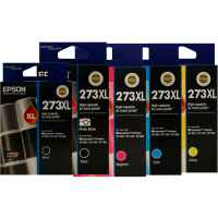 5 Pack Genuine Epson 273XL Ink Cartridge Set (1BK,1PBK,1C,1M,1Y) High Yield