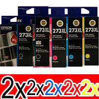 10 Pack Genuine Epson 273XL Ink Cartridge Set (2BK,2PBK,2C,2M,2Y) High Yield