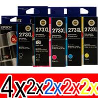 12 Pack Genuine Epson 273XL Ink Cartridge Set (4BK,2PBK,2C,2M,2Y) High Yield