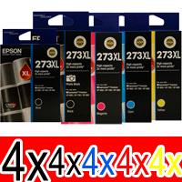 20 Pack Genuine Epson 273XL Ink Cartridge Set (4BK,4PBK,4C,4M,4Y) High Yield
