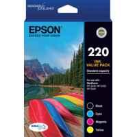 1 x Genuine Epson 220 Ink Cartridge Value Pack Standard Yield