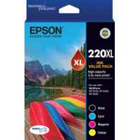 1 x Genuine Epson 220XL Ink Cartridge Value Pack High Yield