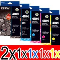 6 Pack Genuine Epson 410XL Ink Cartridge Set (2BK,1PBK,1C,1M,1Y) High Yield