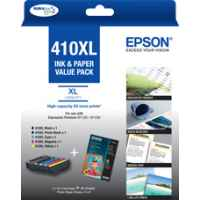 1 x Genuine Epson 410XL Ink Cartridge Value Pack High Yield
