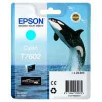 1 x Genuine Epson T7602 760 Cyan Ink Cartridge