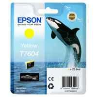 1 x Genuine Epson T7604 760 Yellow Ink Cartridge