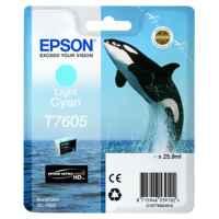 1 x Genuine Epson T7605 760 Light Cyan Ink Cartridge