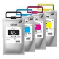 4 Pack Genuine Epson R12X Ink Pack Set (1BK,1C,1M,1Y)