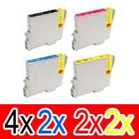10 Pack Compatible Epson T0461 T0472 T0473 T0474 Ink Cartridge Set (4B,2C,2M,2Y)