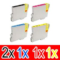 5 Pack Compatible Epson T0461 T0472 T0473 T0474 Ink Cartridge Set (2B,1C,1M,1Y)