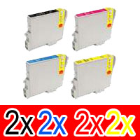 8 Pack Compatible Epson T0461 T0472 T0473 T0474 Ink Cartridge Set (2B,2C,2M,2Y)