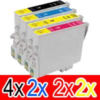 10 Pack Compatible Epson T0561 T0562 T0563 T0564 Ink Cartridge Set (4B,2C,2M,2Y)
