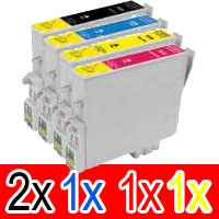 5 Pack Compatible Epson T0561 T0562 T0563 T0564 Ink Cartridge Set (2B,1C,1M,1Y)