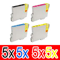 20 Pack Compatible Epson T0621 T0632 T0633 T0634 Ink Cartridge Set (5B,5C,5M,5Y)