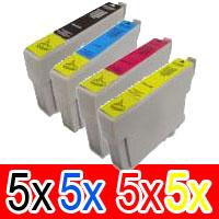 20 Pack Compatible Epson T0751 T0752 T0753 T0754 Ink Cartridge Set (5B,5C,5M,5Y)