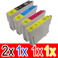 5 Pack Compatible Epson T0751 T0752 T0753 T0754 Ink Cartridge Set (2B,1C,1M,1Y)