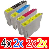 10 Pack Compatible Epson 73N T1051 T1052 T1053 T1054 Ink Cartridge Set (4BK,2C,2M,2Y)