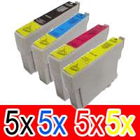 20 Pack Compatible Epson 73N T1051 T1052 T1053 T1054 Ink Cartridge Set (5BK,5C,5M,5Y)