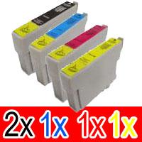 5 Pack Compatible Epson 73N T1051 T1052 T1053 T1054 Ink Cartridge Set (2BK,1C,1M,1Y)