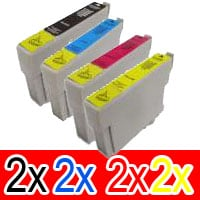 8 Pack Compatible Epson 73N T1051 T1052 T1053 T1054 Ink Cartridge Set (2BK,2C,2M,2Y)